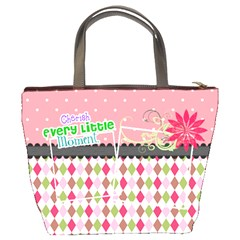Cherish Every Little Moment  By Digitalkeepsakes   Bucket Bag   3o61t7lc3xy0   Www Artscow Com Back