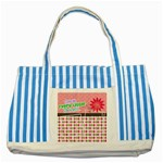 Cherish every little moment. - Striped Blue Tote Bag