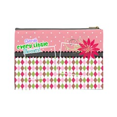 Cherish Every Little Moment  By Digitalkeepsakes   Cosmetic Bag (large)   Q35b4mt1ouwp   Www Artscow Com Back