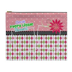 Cherish Every Little Moment  By Digitalkeepsakes   Cosmetic Bag (xl)   1430wc4p6qer   Www Artscow Com Front