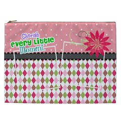 Cherish Every Little Moment  By Digitalkeepsakes   Cosmetic Bag (xxl)   537ggx02p99g   Www Artscow Com Front