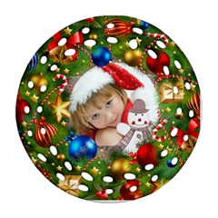 Christmas By Joanne5   Round Filigree Ornament (two Sides)   Oep7ide8pzfg   Www Artscow Com Back