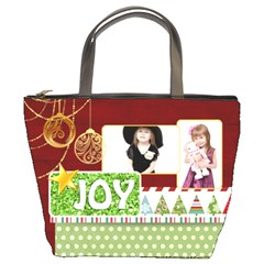 Merry Christmas By Jo Jo   Bucket Bag   7lsi4o4eky19   Www Artscow Com Front