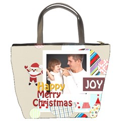 Merry Christmas By Jo Jo   Bucket Bag   Rrtt86r3zbbt   Www Artscow Com Back