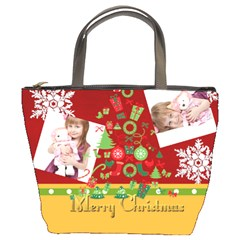 Merry Christmas By Jo Jo   Bucket Bag   Bj6lv0ic4ab0   Www Artscow Com Front