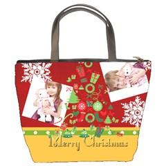 Merry Christmas By Jo Jo   Bucket Bag   Bj6lv0ic4ab0   Www Artscow Com Back