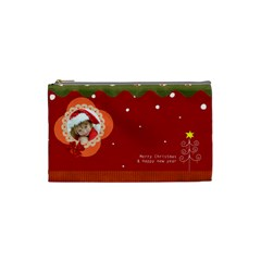 Christmas  By Joanne5   Cosmetic Bag (small)   Zwx1f0eys004   Www Artscow Com Front