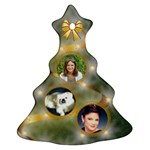 Golden star Christmas tree Ornament 2 sides - Christmas Tree Ornament (Two Sides)