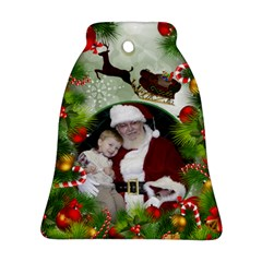 Santa Bell Ornament (2 Sided) By Deborah   Bell Ornament (two Sides)   1yv6awkqebew   Www Artscow Com Back