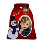 Snowman 2015 Bell Ornament (2 Sided) - Bell Ornament (Two Sides)