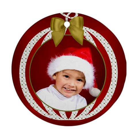 Christmas Round Ornament By Deborah   Ornament (round)   1q5fhehbx66n   Www Artscow Com Front