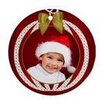 Christmas Round Ornament (2 Sided) - Round Ornament (Two Sides)