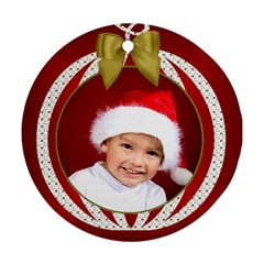 Christmas Round Ornament (2 Sided) By Deborah   Round Ornament (two Sides)   4k9ydi9q9pyz   Www Artscow Com Back