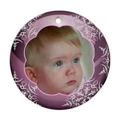Pink Ball Round Christmas Ornament (2 Sided) By Deborah   Round Ornament (two Sides)   7bnihpu3llu5   Www Artscow Com Front