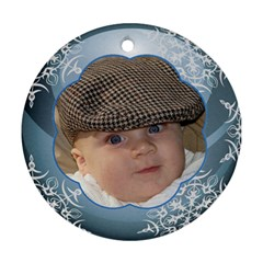 Blue Ball Round Christmas Ornament (2 Sided) By Deborah   Round Ornament (two Sides)   Ke7ew6rzj4u9   Www Artscow Com Front