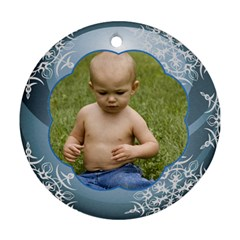 Blue Ball Round Christmas Ornament (2 Sided) By Deborah   Round Ornament (two Sides)   Ke7ew6rzj4u9   Www Artscow Com Back