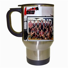 Vball Travel Mug2 By Shelley   Travel Mug (white)   Yxzfw05g2irq   Www Artscow Com Left