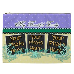 My Beautiful Family By Digitalkeepsakes   Cosmetic Bag (xxl)   68haqea7pb2g   Www Artscow Com Front