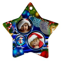 Christmas(two Sides) By Joanne5   Star Ornament (two Sides)   3u011aq34k77   Www Artscow Com Front