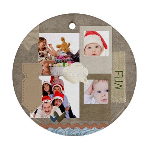 Merry Christmas By Betty   Ornament (round)   Vhtvm71mybdu   Www Artscow Com Front