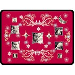 Red Starry Night Snowflake XL Blanket - Fleece Blanket (Extra Large)