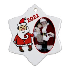 Sants Snowflake Christmas Ornament (2 Sided) By Deborah   Snowflake Ornament (two Sides)   Pkvnmr5s5ymv   Www Artscow Com Front