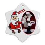 Sants Snowflake Christmas Ornament (2 sided) - Snowflake Ornament (Two Sides)
