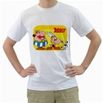asterix - Men s T-Shirt (White) (Two Sided)