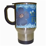 Blue Friend Travel Mug - Travel Mug (White)