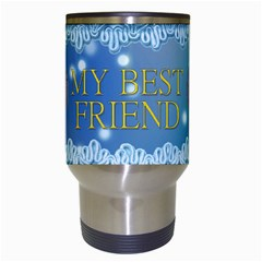 Blue Friend Travel Mug By Maryanne   Travel Mug (white)   Gq7irpxpzet1   Www Artscow Com Center