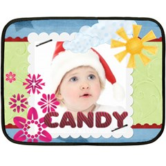 Candy By Jo Jo   Double Sided Fleece Blanket (mini)   Ygx3bo25fnpz   Www Artscow Com 35 x27 Blanket Front