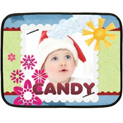 Candy By Jo Jo   Double Sided Fleece Blanket (mini)   Ygx3bo25fnpz   Www Artscow Com 35 x27  Blanket Back