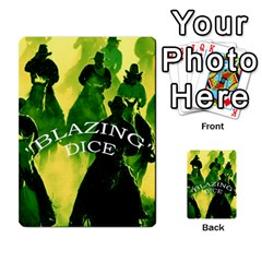 Blazing Dice  2 By Dave Docherty   Multi Purpose Cards (rectangle)   Ntzcbog2ih5q   Www Artscow Com Front 4