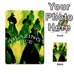 Blazing Dice  2 By Dave Docherty   Multi Purpose Cards (rectangle)   Ntzcbog2ih5q   Www Artscow Com Front 45