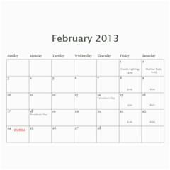 Cal 2013 By Shoshana   Wall Calendar 11  X 8 5  (12 Months)   0pr4myqbwnaq   Www Artscow Com Feb 2013