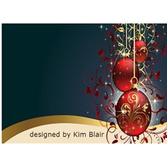 Red And Gold 3d Circle Christmas Card By Kim Blair   Circle 3d Greeting Card (7x5)   Scw1e1d12tdt   Www Artscow Com Back