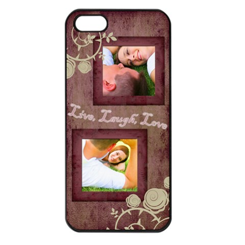 Pink Live, Laugh, Love Iphone 5 Case By Angela   Apple Iphone 5 Seamless Case (black)   Ga7i50e3kkhi   Www Artscow Com Front