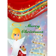 Angel Christmas Card By Kim Blair   Greeting Card 5  X 7    5da8im1i1j22   Www Artscow Com Front Cover