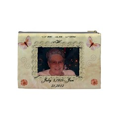 Carol By Virginia Rodriguez   Cosmetic Bag (medium)   2e7qtzwankit   Www Artscow Com Back