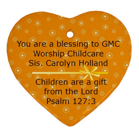 Heart Children Sis Holland By Kathryn Magana   Ornament (heart)   C7b6iomgu005   Www Artscow Com Front