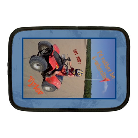 4wheelin By Teresa   Netbook Case (medium)   66j12g66bkcs   Www Artscow Com Front