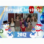 snowman family Christmas Card 2 - 5  x 7  Photo Cards
