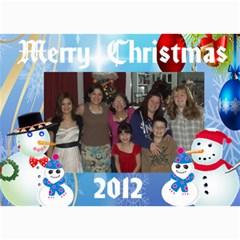 Snowman Family Christmas Card 2 By Kim Blair   5  X 7  Photo Cards   Zq6zmwy5s8xo   Www Artscow Com 7 x5  Photo Card - 7