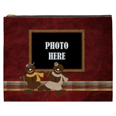 Gingy Holiday Xxxl Cosmetic Bag 1 By Lisa Minor   Cosmetic Bag (xxxl)   Mt7red950r88   Www Artscow Com Front