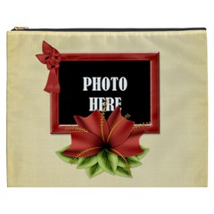 Happy Holidays Xxxl Cosmetic Bag 3 By Lisa Minor   Cosmetic Bag (xxxl)   Hpbnbkzilahu   Www Artscow Com Front