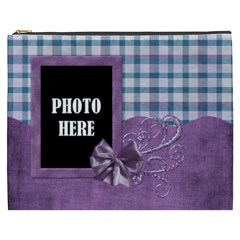 Lavender Rain Xxxl Cosmetic Bag 1 By Lisa Minor   Cosmetic Bag (xxxl)   Q71rgihbcm2v   Www Artscow Com Front