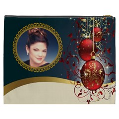 Red And Gold Ornament Cosmetic Bag (xxxl) By Kim Blair   Cosmetic Bag (xxxl)   8pzdaj8h87ll   Www Artscow Com Back