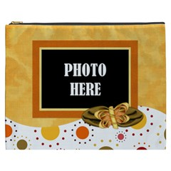 Tangerine Breeze Xxxl Cosmetic Bag 1 By Lisa Minor   Cosmetic Bag (xxxl)   U9l988p0xloc   Www Artscow Com Front