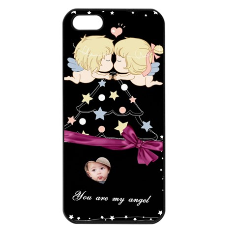 My Angel Apple Iphone 5 Seamless Case (black)  By Joanne5   Apple Iphone 5 Seamless Case (black)   T60acys4ytft   Www Artscow Com Front