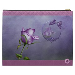Elegance Purple Cosmetic Bag (xxxl)  By Joanne5   Cosmetic Bag (xxxl)   Snd5p0b5dv9i   Www Artscow Com Back